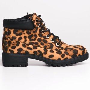 NWT Cheetah Boots In Box